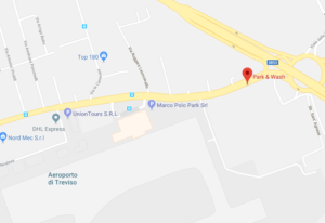 Map and distance from Park & Wash To Treviso Airport